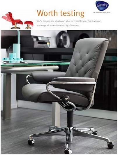 Enjoy the quickest shipping and the lowest prices authorized by the manufacturer for all Ekornes Stressless Office Chairs. We have the best prices on the most popular items.