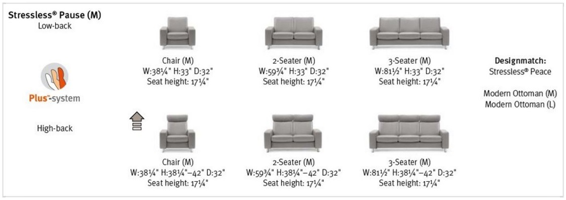 Stressless Pause Sofa Options at Unwind