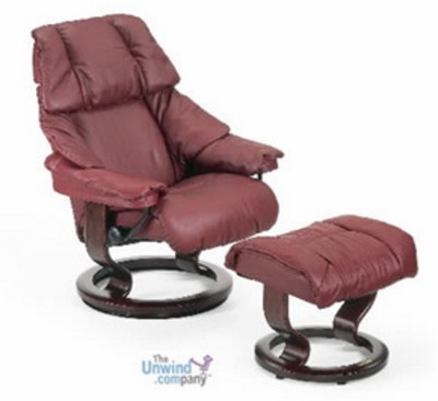 Stressless Reno Chair and Ottoman- small