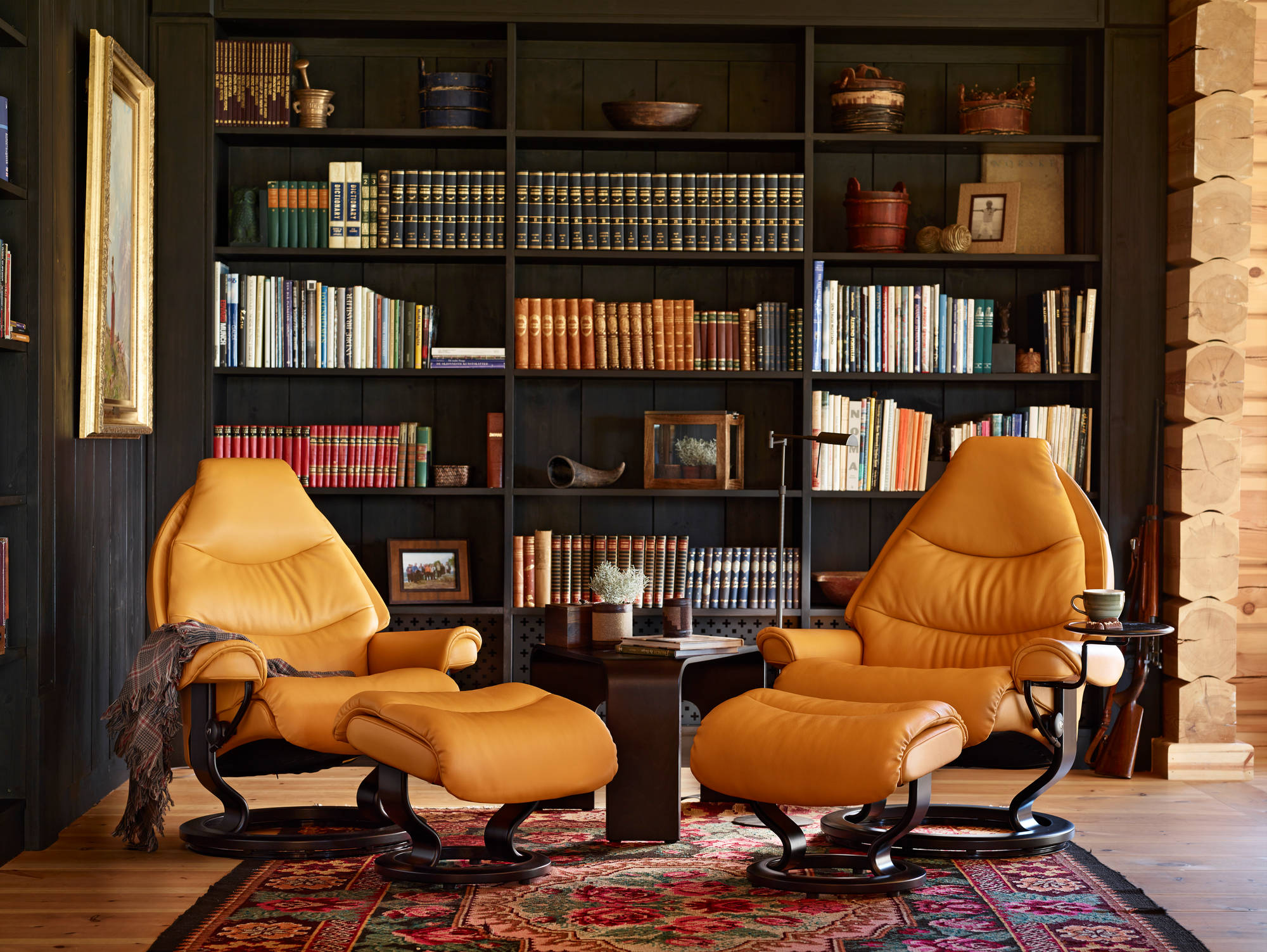 Voyager Recliners in Cori Mustard Leather