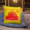 Rocky Point Park Yellow Premium Pillow