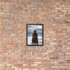 Point Judith Lighthouse #002V Framed matte paper poster