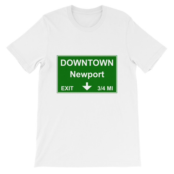 Downtown Newport Exit Short-Sleeve Unisex T-Shirt