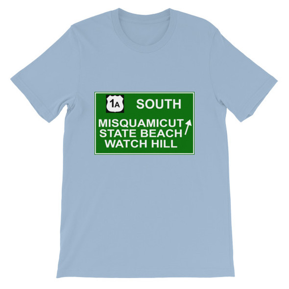 Misquamicut Beach Exit Short-Sleeve Unisex T-Shirt