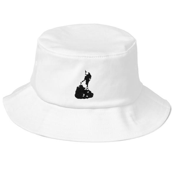 Block Island Black Logo Old School Bucket Hat