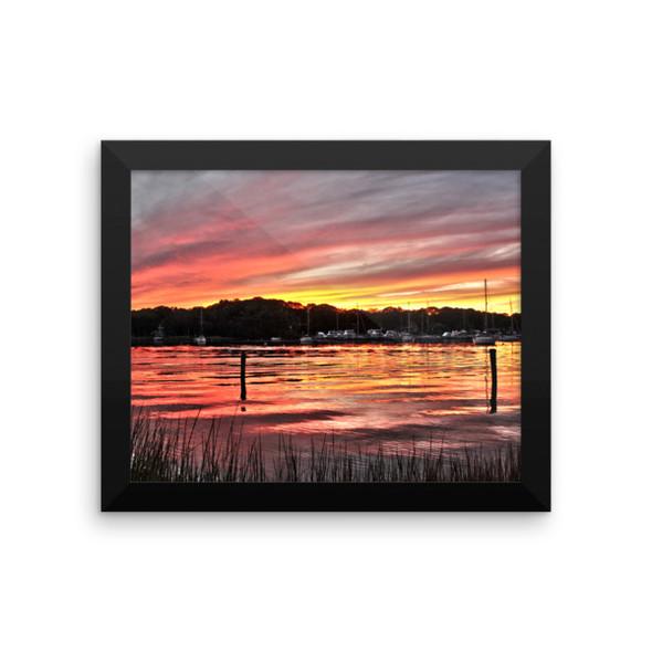 Salt Pond Narragansett Framed photo paper poster
