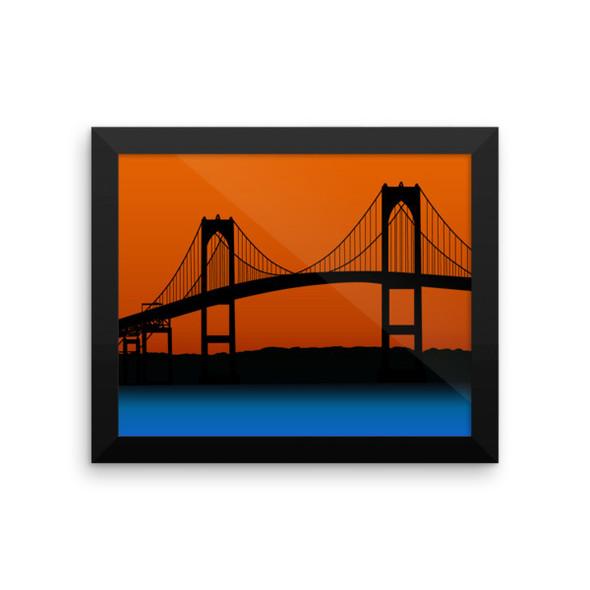 Newport Bridge Vector Framed photo paper poster