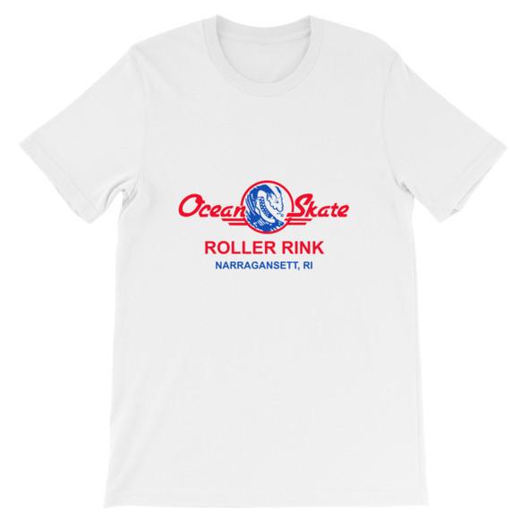 Ocean Skate Roller Rink Light Color Short-Sleeve Unisex T-Shirt
