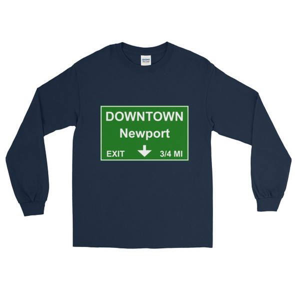 Downtown Newport Exit Long Sleeve T-Shirt