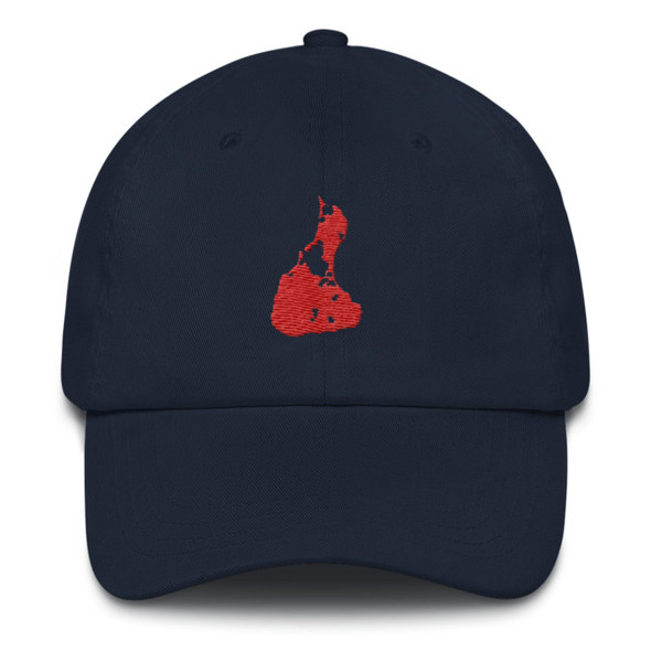 Block Island Red Logo Dad hat