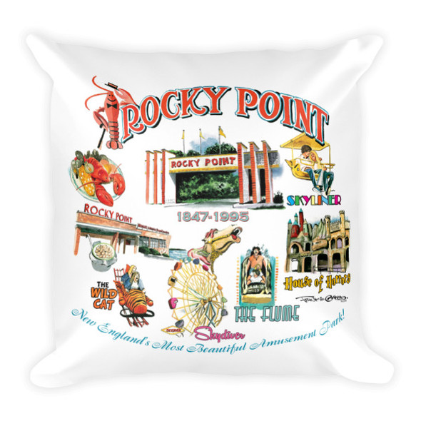 """Rocky Point Memories"" Square Pillow by Frank Galasso"