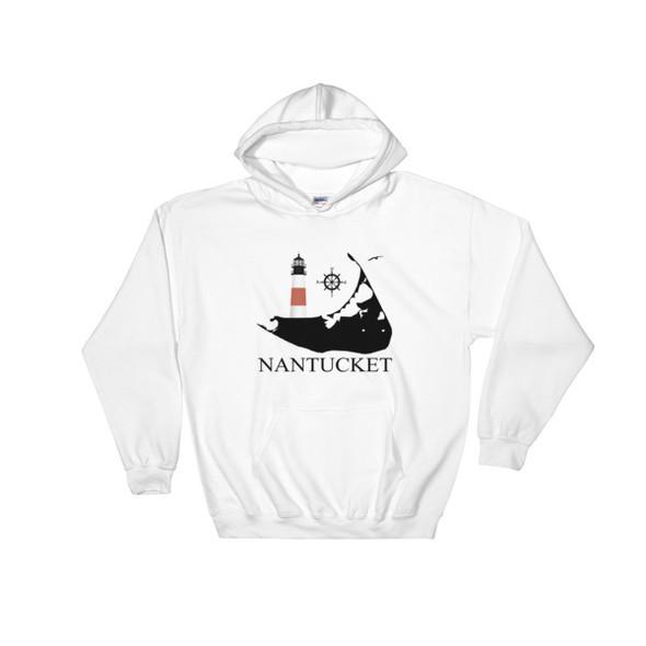Sankaty Head Lighthouse Hooded Sweatshirt - Black Logo