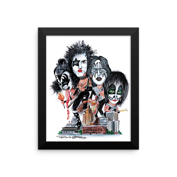 """Kiss Over Providence"" Framed photo paper poster by Frankie Galasso"