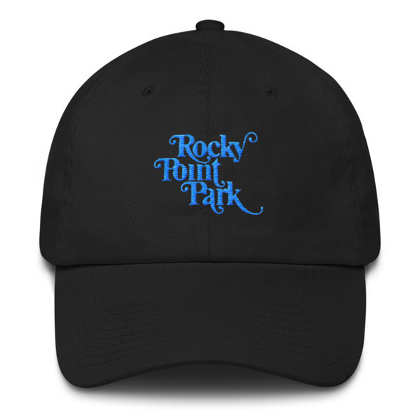 Rocky Point Blue Embroidered Cotton Cap