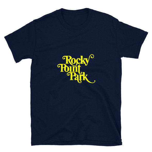 Rocky Point Park Yellow Logo Short-Sleeve Unisex T-Shirt