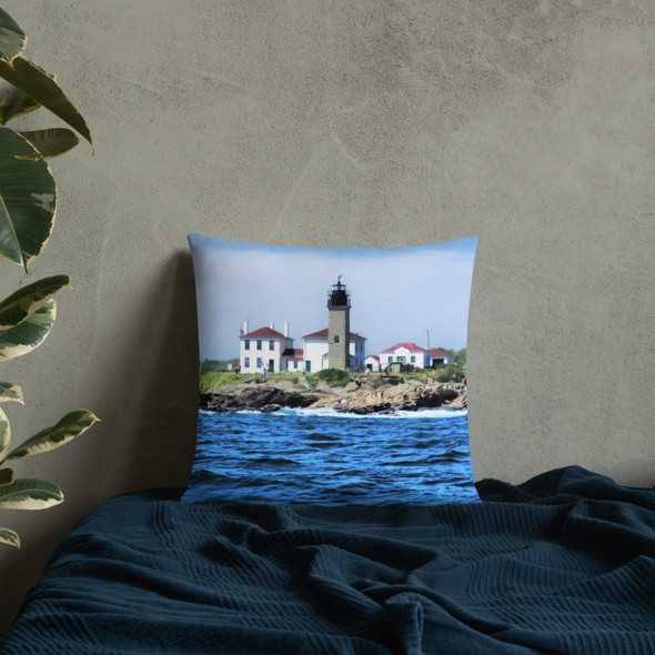 Beavertail Lighthouse Basic Pillow