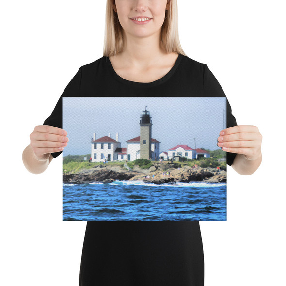 Beavertail Lighthouse Canvas