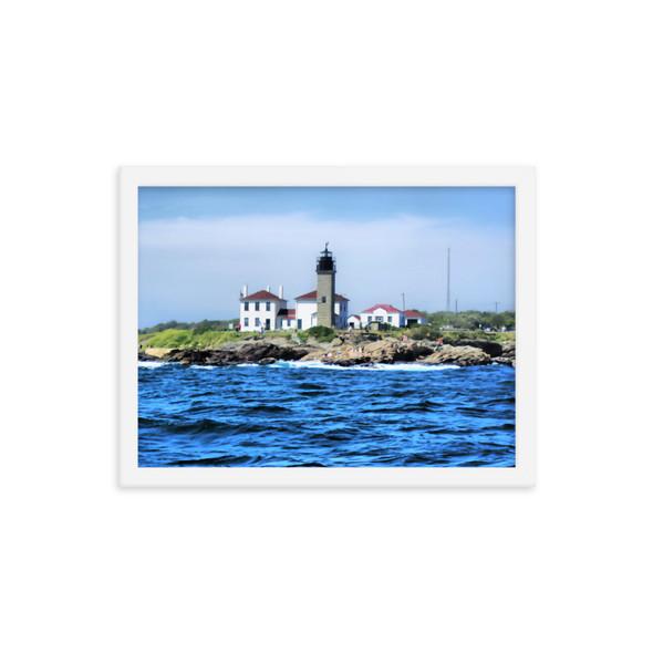 Beavertail Lighthouse Framed poster