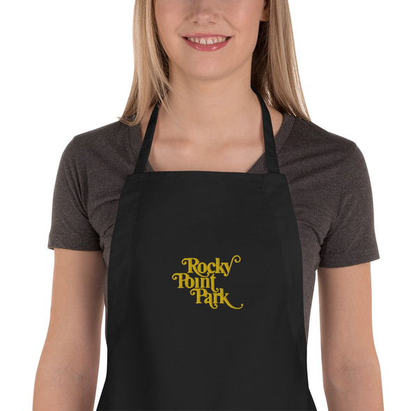 Rocky Point Park Embroidered Apron Gold Logo