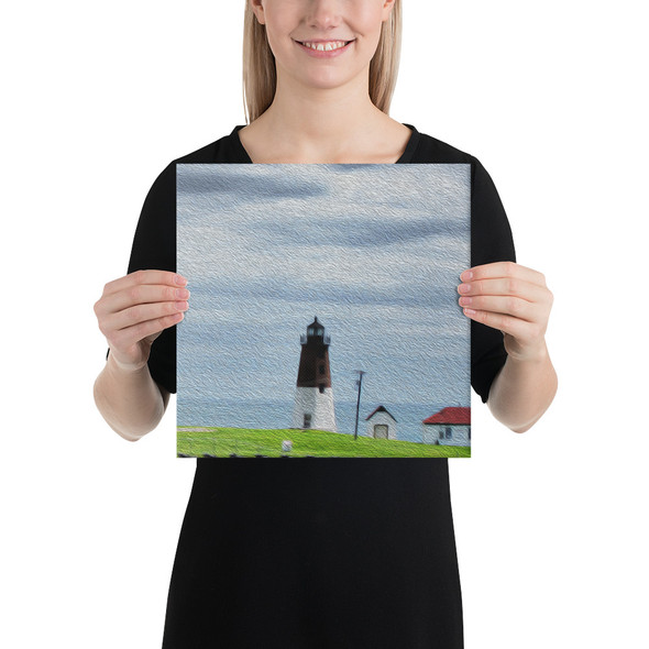 Point Judith Lighthouse Canvas