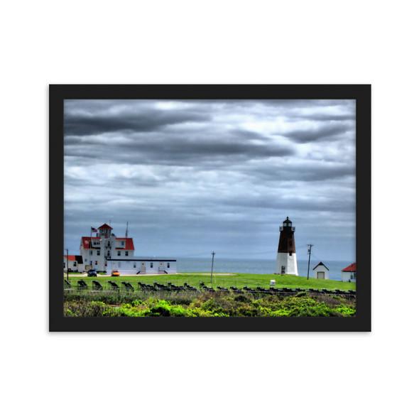 Point Judith Lighthouse Framed matte paper poster
