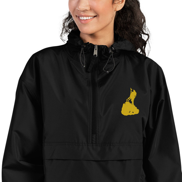 Block Island Gold Logo Embroidered Champion Packable Jacket