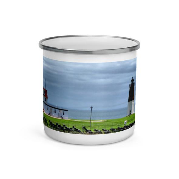 Point Judith Lighthouse Enamel Mug