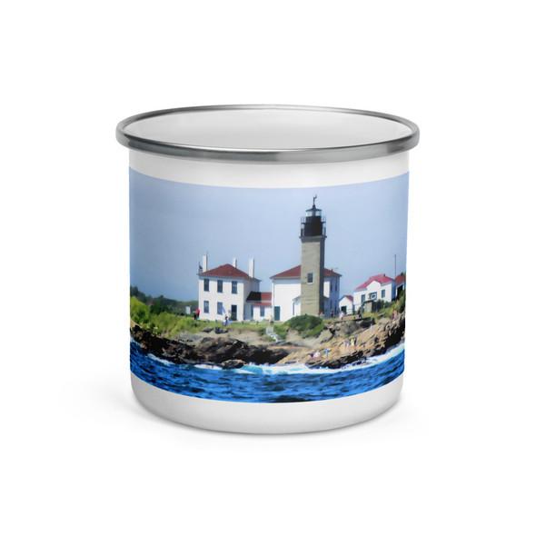 Beavertail Lighthouse Enamel Mug