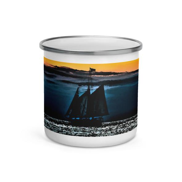 The Mystic Whaler Enamel Mug