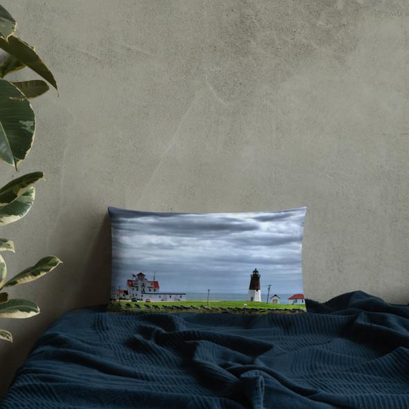 Point Judith Lighthouse Premium Pillow