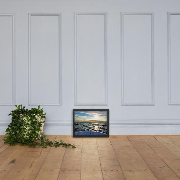 Bow Shot @ Block Island Framed matte paper poster