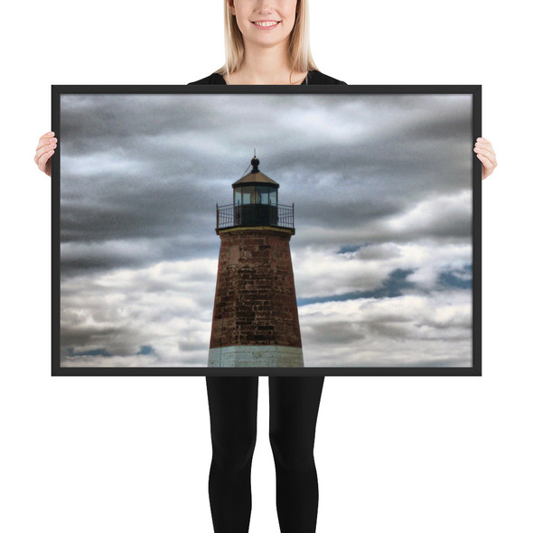Point Judith Lighthouse #002 Framed matte paper poster
