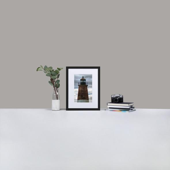 Matte Paper Framed Poster With Mat