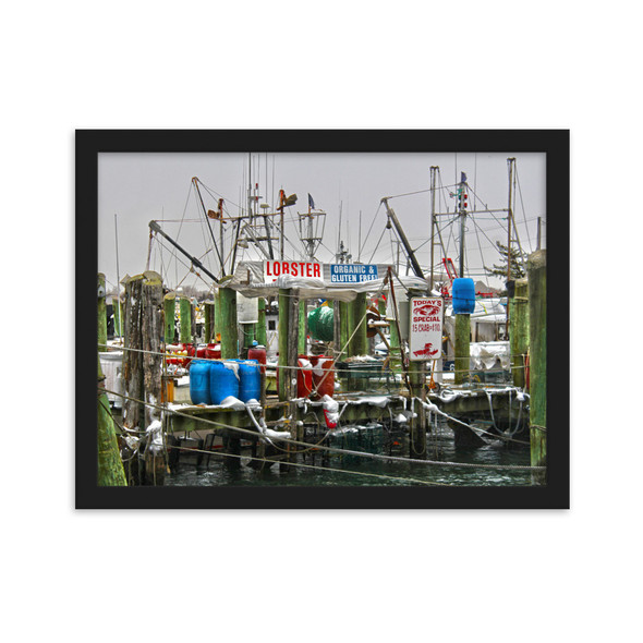 Point Judith Blizzard 2013 #001 Framed matte paper poster