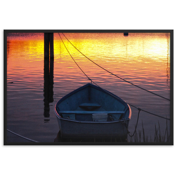 Salt Pond Sunset #001 Framed matte paper poster