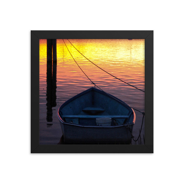 Salt Pond Sunset #001 Framed poster