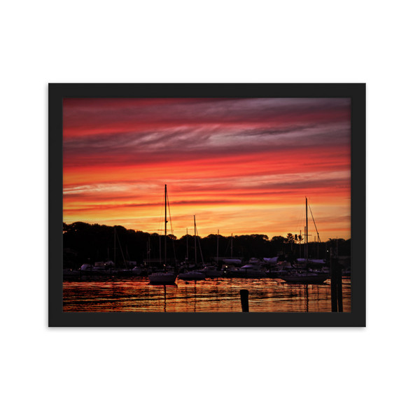 Salt Pond Sunset #002 Framed matte paper poster