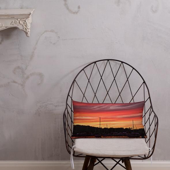 Salt Pond Sunset #002 Premium Pillow
