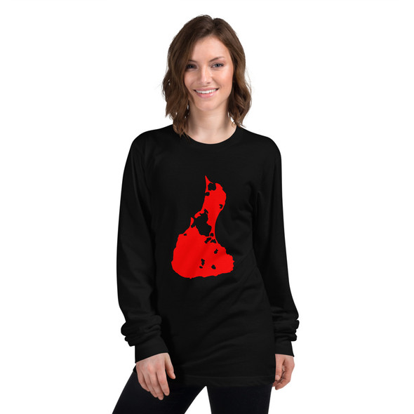 Block Island Red Logo Long sleeve t-shirt
