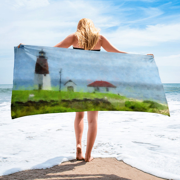 Point Judith Lighthouse 001 Towel