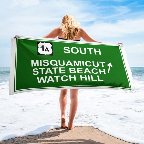 Misquamicut Beach Exit 001 Towel