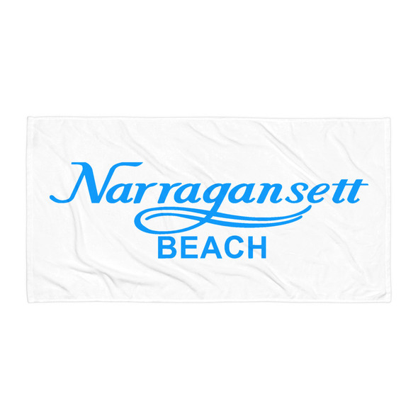 Narragansett Beach Blue Logo Towel