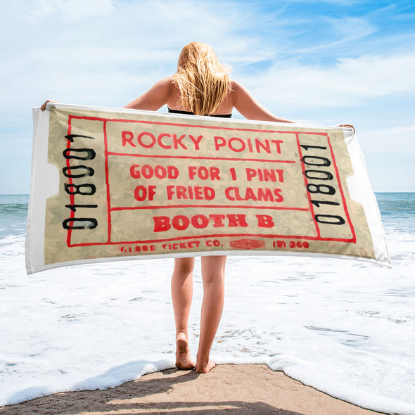 Rocky Point Fried Clam Ticket Ticket Towel