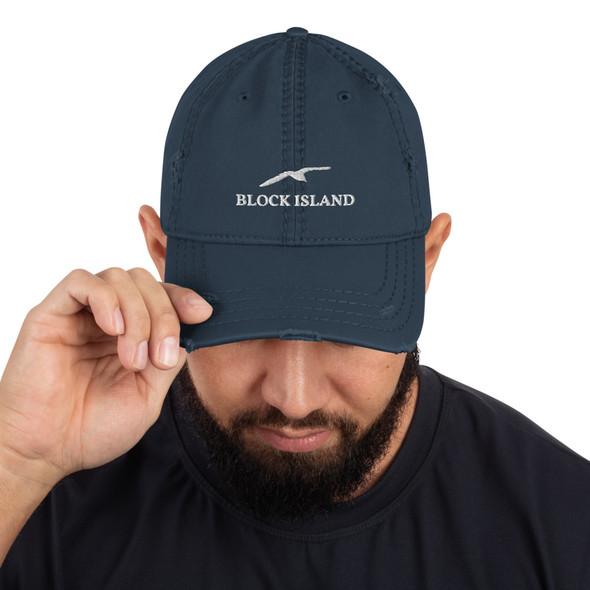 Block Island Gull Distressed Dad Hat
