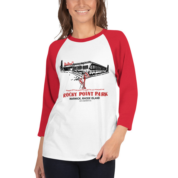 Shore Dinner Hall 001 3/4 sleeve raglan shirt