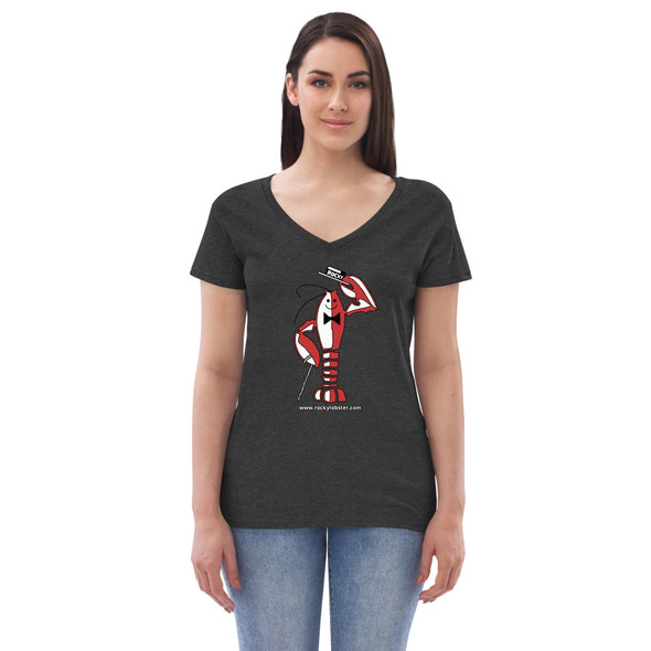 Rocky Lobster 001 Women's recycled v-neck t-shirt