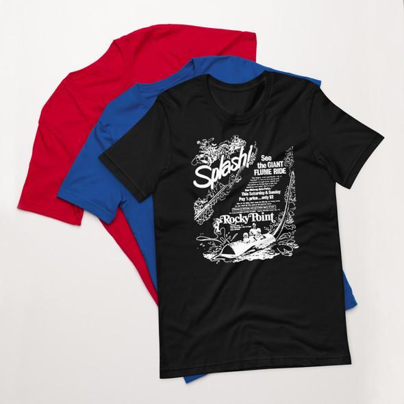 Rocky Point Park White Flume Ad Short-Sleeve Unisex T-Shirt