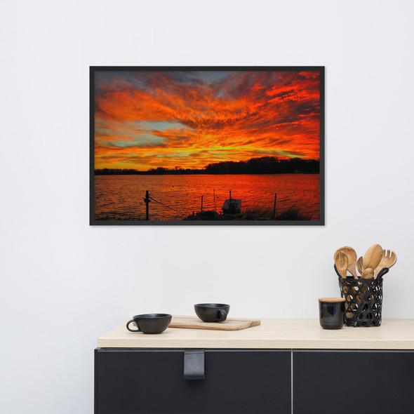 Wild Sky Narragansett RI 001 Framed photo paper poster