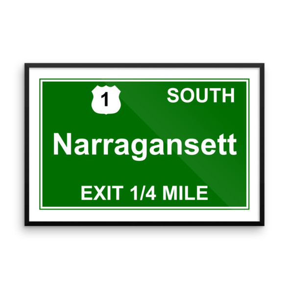 Narragansett Exit Framed photo paper poster