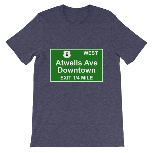 Atwells Ave Exit Short-Sleeve Unisex T-Shirt
